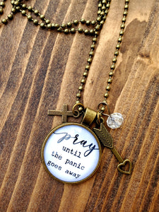Prayer / Panic Pendant Necklace
