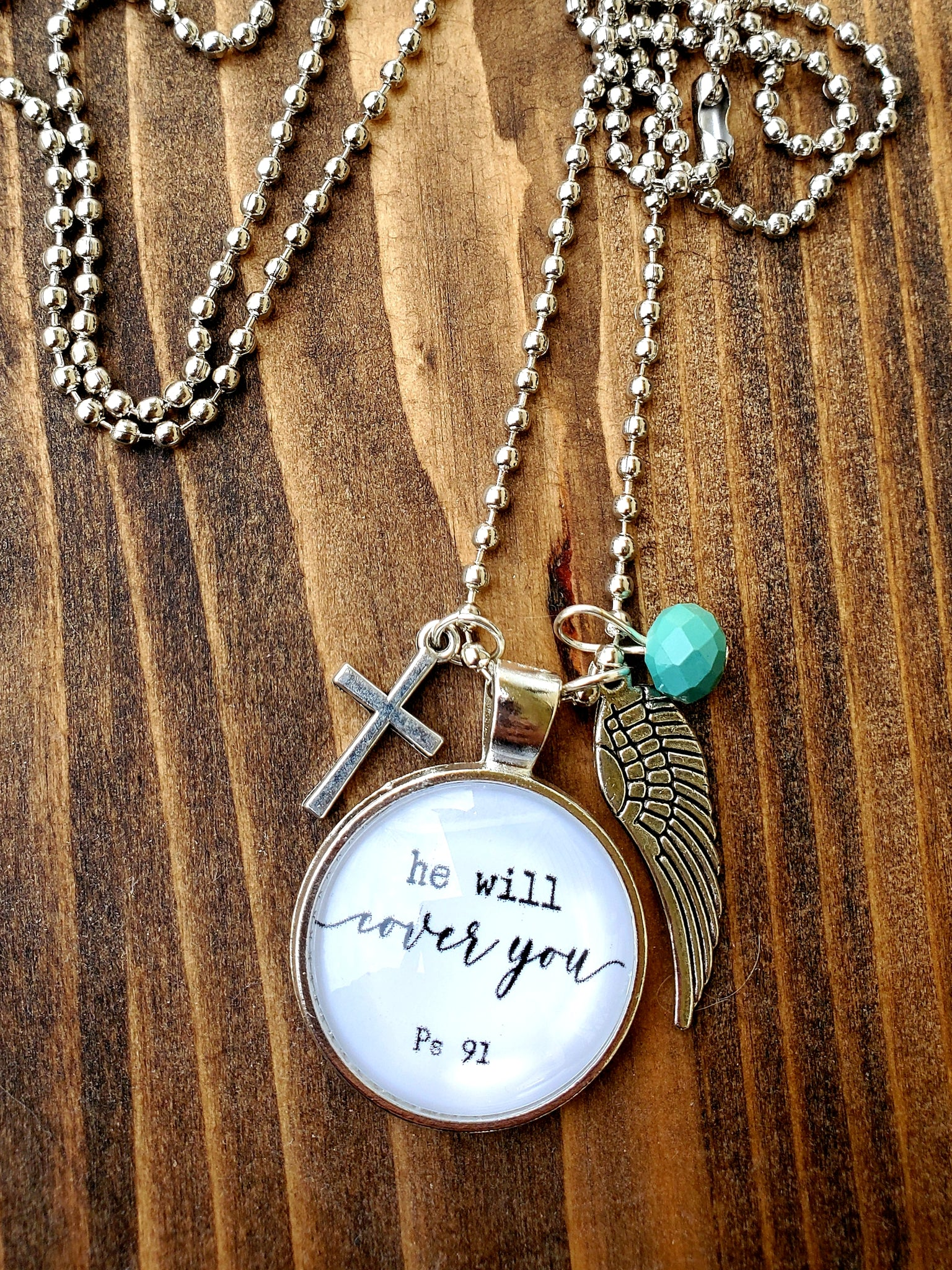 Psalm 91 Pendant Necklace