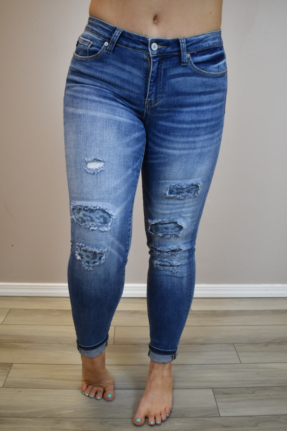 Here Kitty Kitty Patch Denim