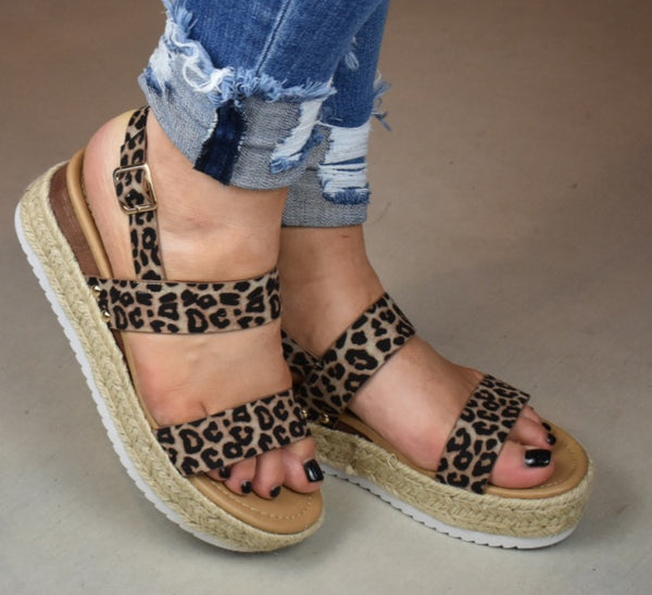 She's The One Leopard Platform Sandals