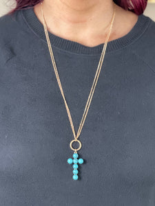 My Beloved Cross Necklace - Turquoise