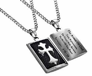 Armor of God Men's Christian Cross Necklace