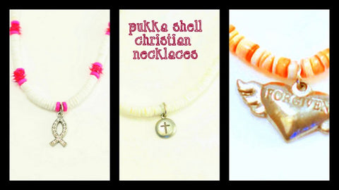 Pukka Shell Christian Necklace or Bracelet - Wear either way