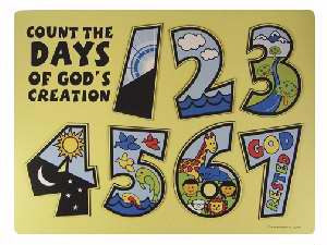 Days of Creation Wooden Puzzle