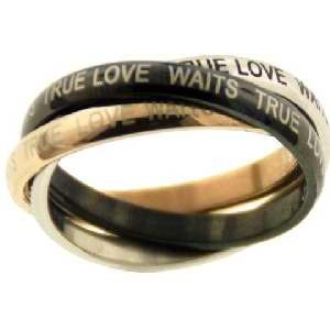 3 Band-True Love Will Wait Stainless Ring