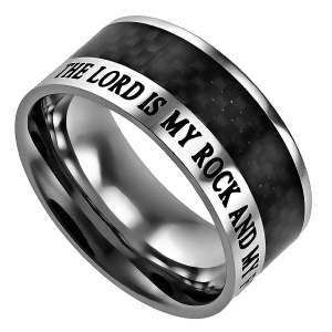 The Lord is my Rock and my Fortress Christian Ring