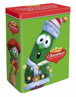 Veggie Tale Holiday Tin with 4 DVD set