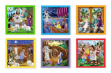 New Testament Bible Stories Wooden Cube Puzzle - 6 Puzzles in 1