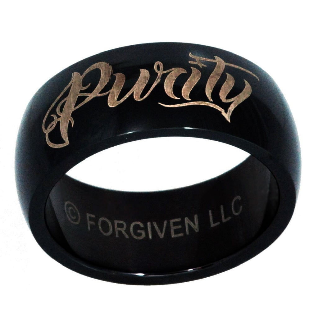 Purity Black Stainless Ring
