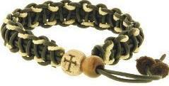 Macrame Cross Bead Bracelet