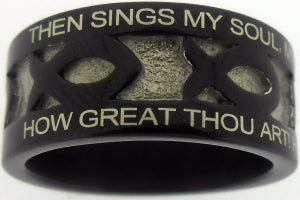 How Great Thou Art Inscribed Men's Ring