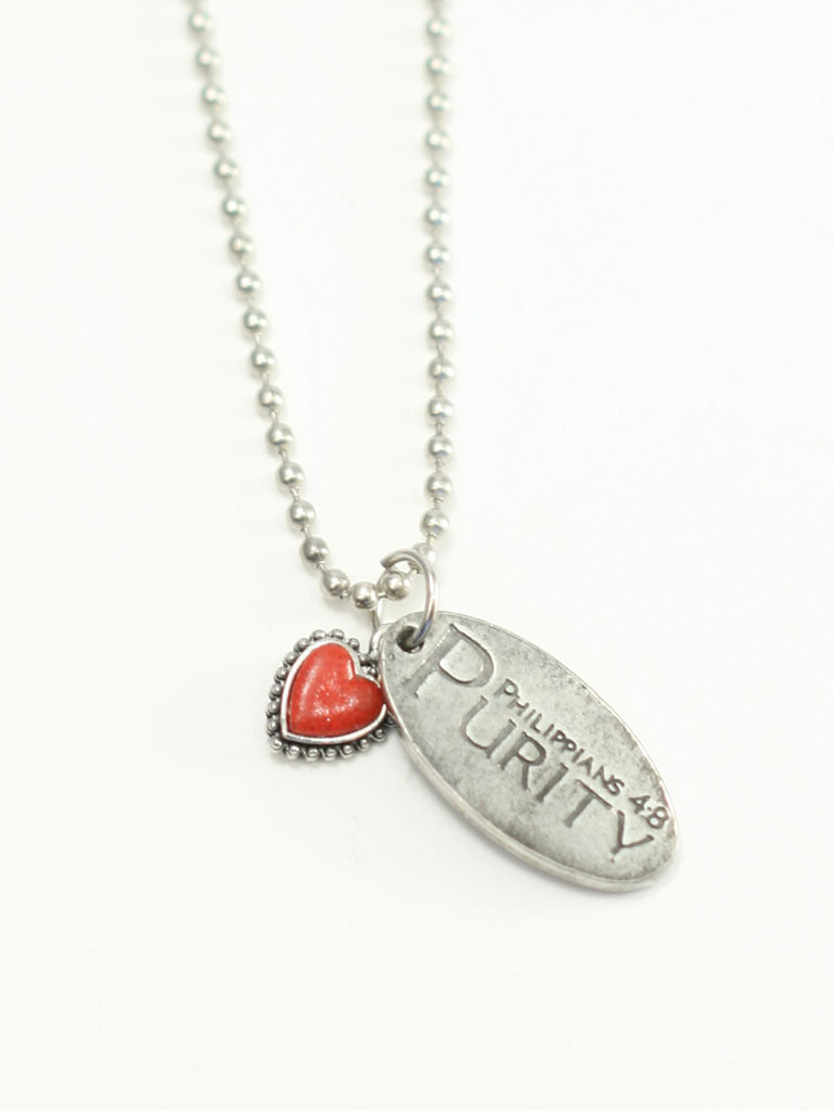 Red Heart Purity Necklace