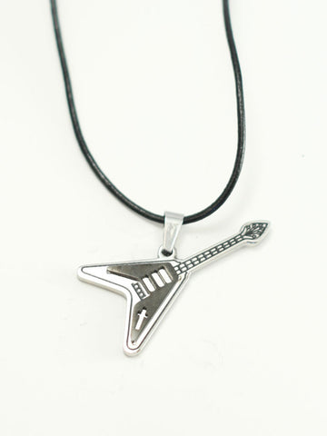 ELECTRIC Guitar Pendant with Cross