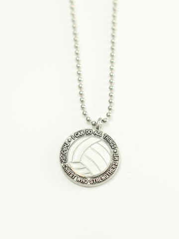 VOLLEYBALL Medallion Christian Necklace