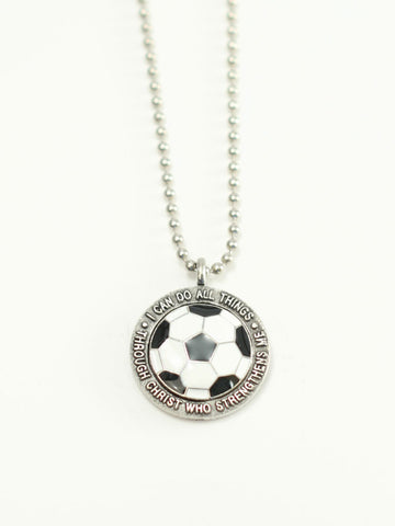 SOCCER  Medallion Christian Necklace