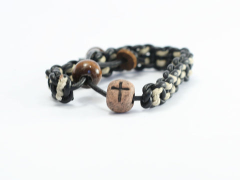 Cross Bead Christian Bracelet