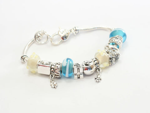 Story Bead Faith, Hope, Love Charm Bracelet