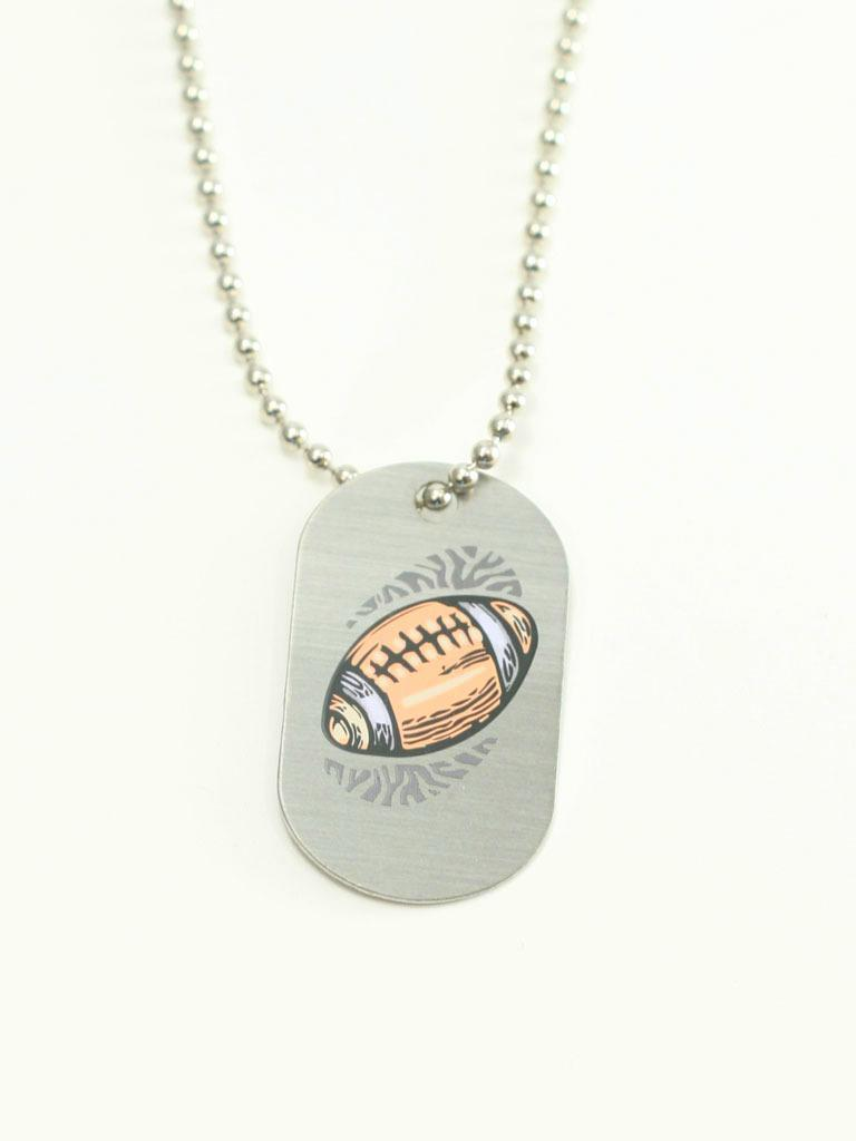 Football Christian Sports Necklace