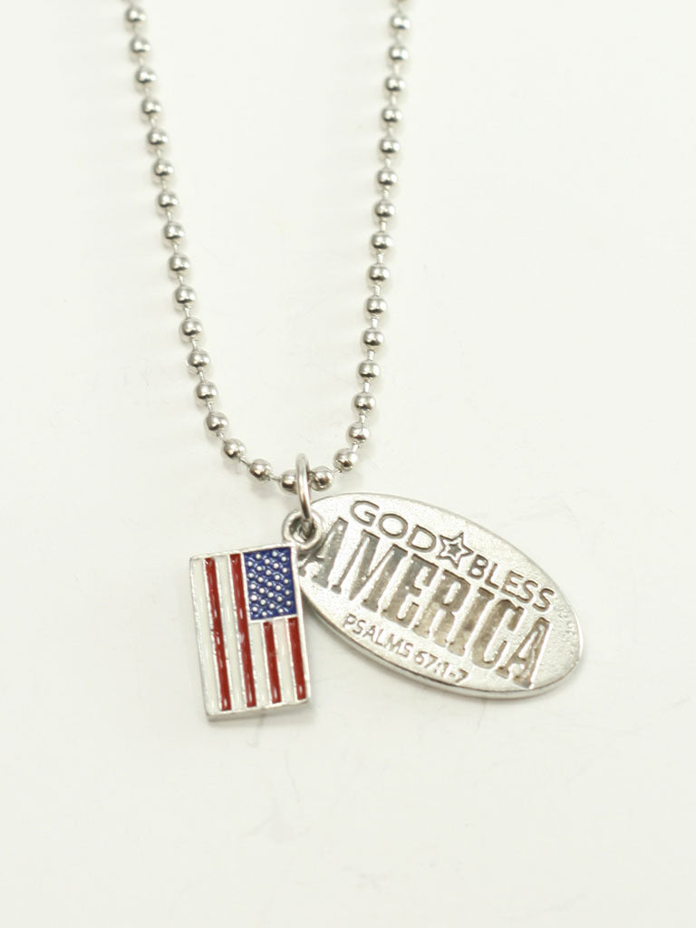 God Bless America Necklace - 9-11