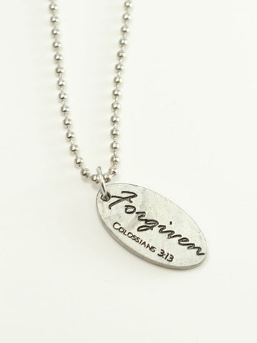 Simple Forgiven Tag Necklace