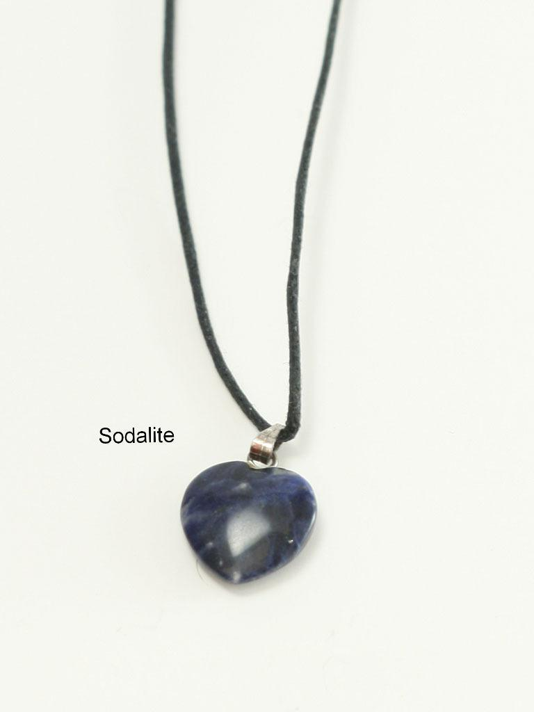 Genuine Gemstone Medium  Heart Christian Necklace