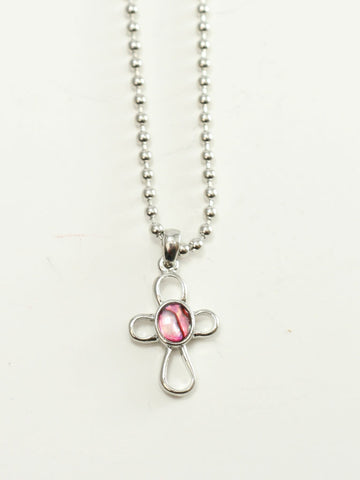 Open Cross Papua Shell Christian Necklace