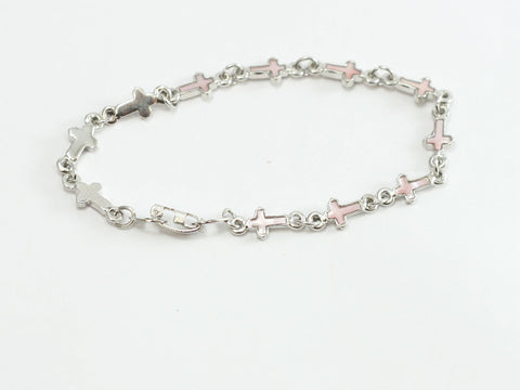 Mother of Pearl Cross Christian Bracelet