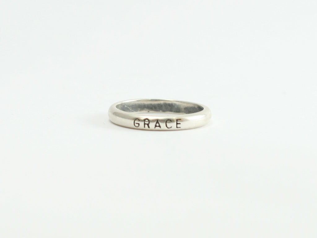Grace Sterling Christian Ring
