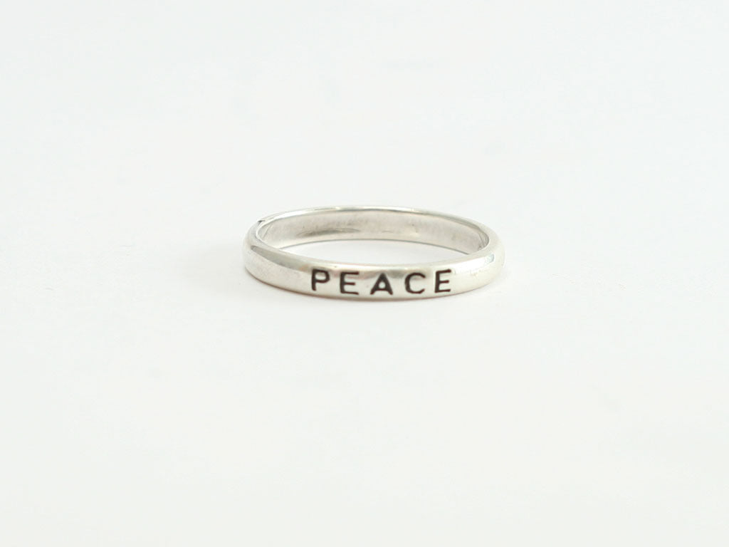 Sterling PEACE ring