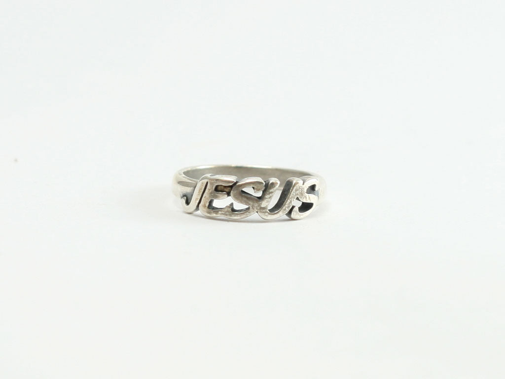 Jesus Ring - Sterling BLOCK letters