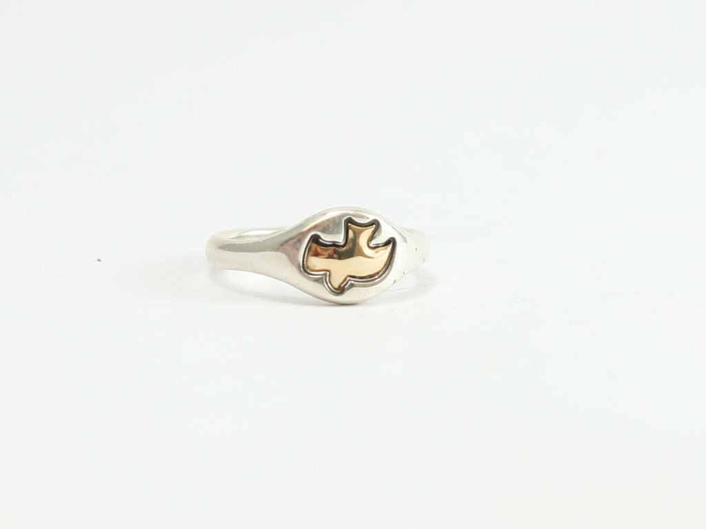 Gold Dove (Holy Spirit) Sterling Ring