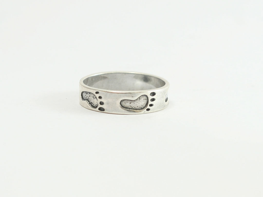 Sterling Footprints Ring