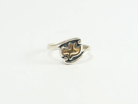 Gold Swirl Dove (Holy Spirit) Sterling Ring
