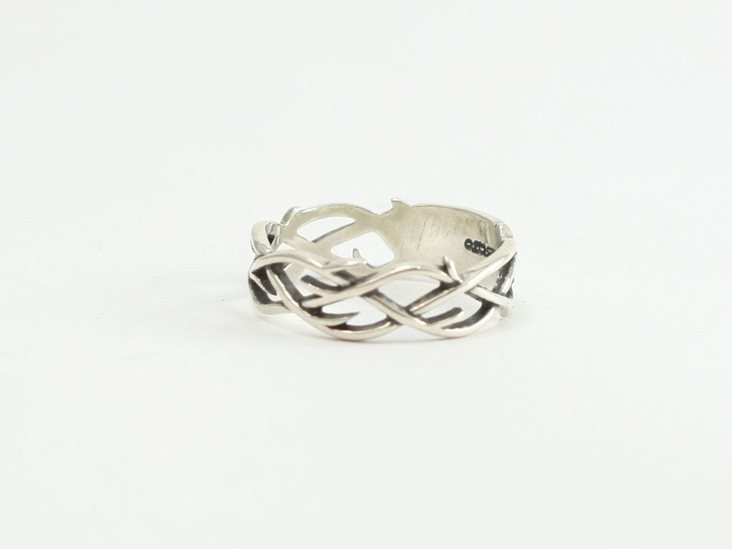 Lg Crown of Thorns Sterling Ring