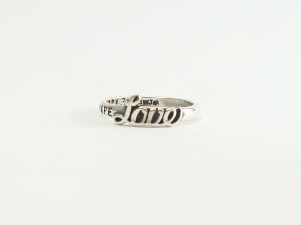 Greatest of These is LOVE Sterling Ring