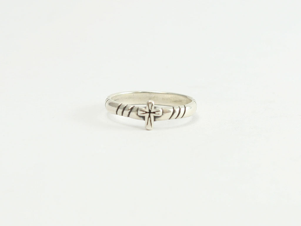 Sterling Solo Cross Ring