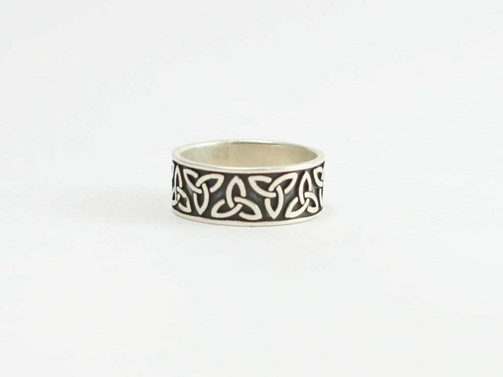 Sterling Trinity Band  Ring