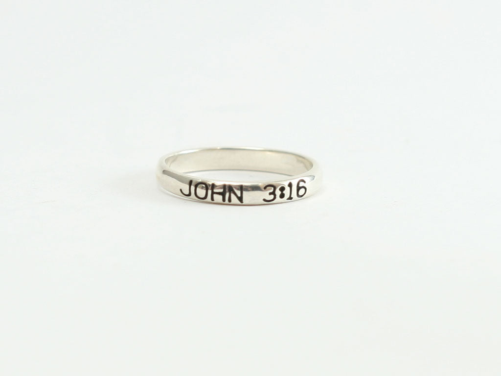 Sterling Crosses + John 3:16 Ring