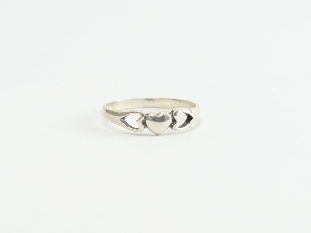Solid Heart Sterling Ring