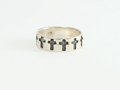 Crosses Sterling Silver Christian Ring