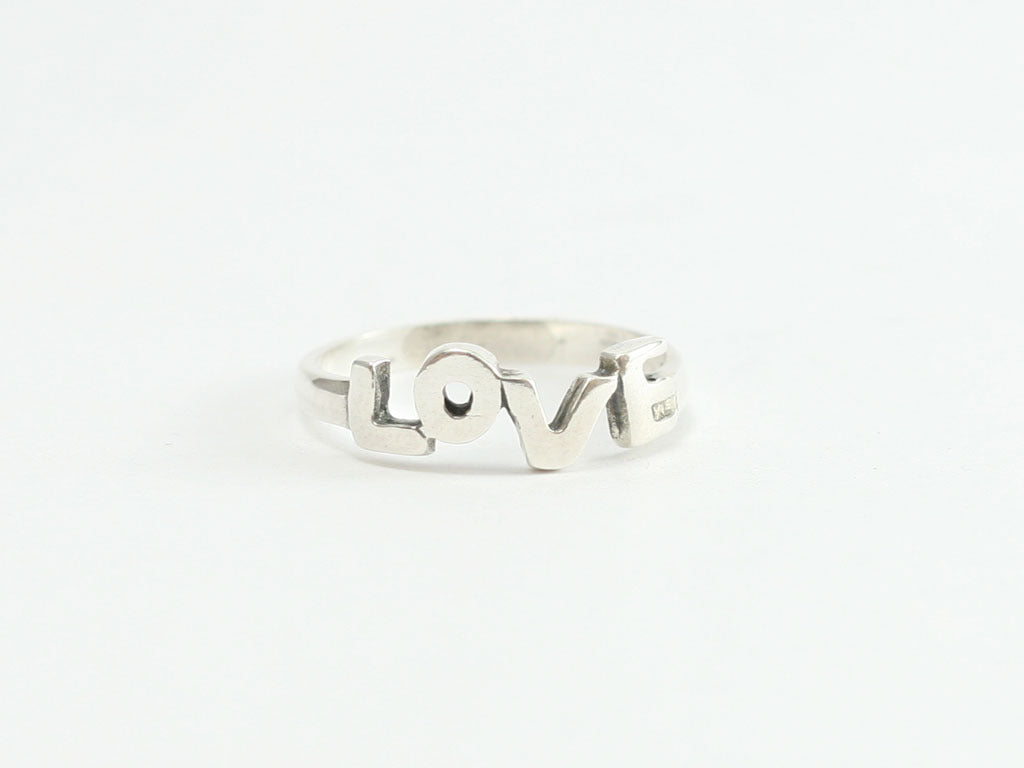 Love Letters Sterling Cutout Ring