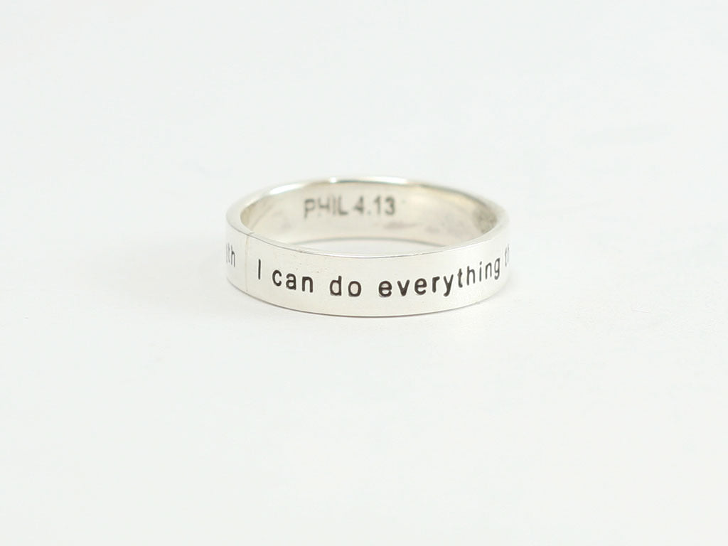 I Can Do Everything Sterling Christian Ring