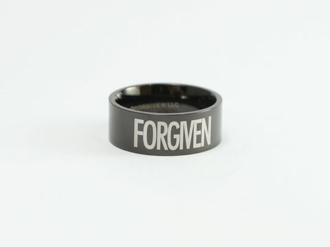Lg Black Finish Forgiven Ring