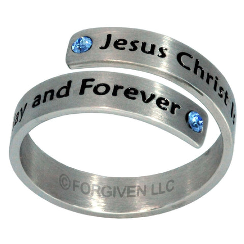 Jesus Christ FOREVER and EVER Ring