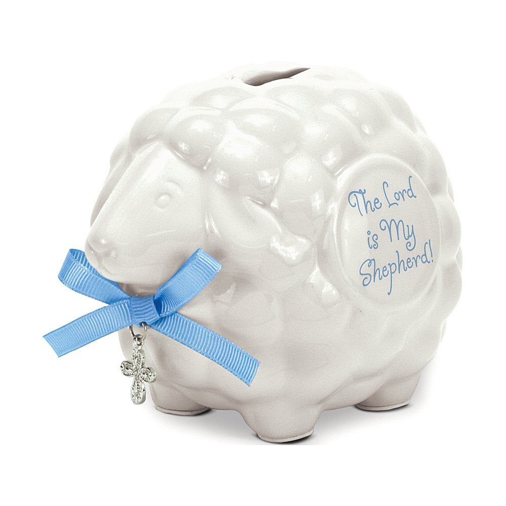 Lord is My Shepherd Piggy Bank for Boys