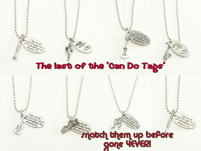 Christian I Can Do All Things in Christ Tag Necklace
