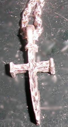Rugged Nail Cross on Twist Chain
