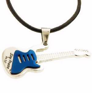 Praise Guitar Pendant Necklace
