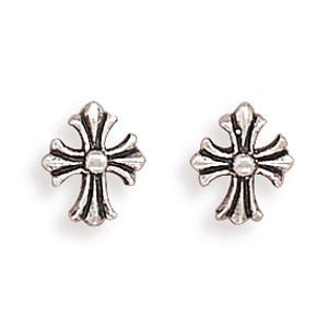 Petite Cross Post Earrings MA63256