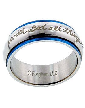 With GOD All Things Are Possible spinner Ring